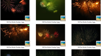 Photo of 100 Fire Works Overlay free download