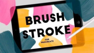 Photo of BRUSH STROKE STAMPS FOR PROCREATE Free Download
