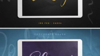 Photo of Procreate Brush Trio Calligraphy Free Download