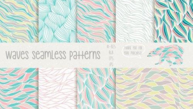 Photo of Waves seamless patterns 80493 Free Download
