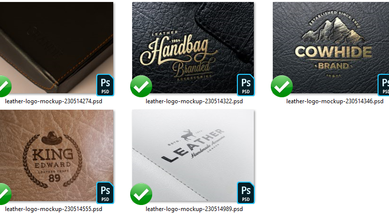 leather logo mockups elements free download picgiraffe com leather logo mockups elements free