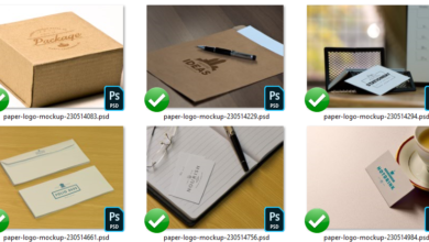 Elements Photorealistic Paper Logo Mockups JESDWG Picgiraffe.com 576