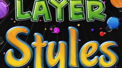 Big Pack Of Colourful 3D Layer Styles Picgiraffe.com