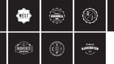 Modern Badges Vol 3 White For PSD