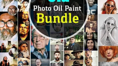 Old Photo Oil Paint Bundle 11546857 Free Download Picgiraffe.com