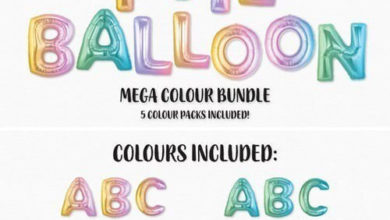The Ombre Foil Balloon Bundle Picgiraffe.com