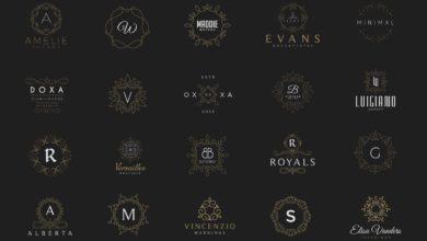 Photo of elements 20 monogram crest logos