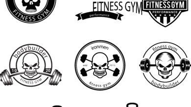 Elements Fitness Logo Badge Vol 3 Picgiraffe.com