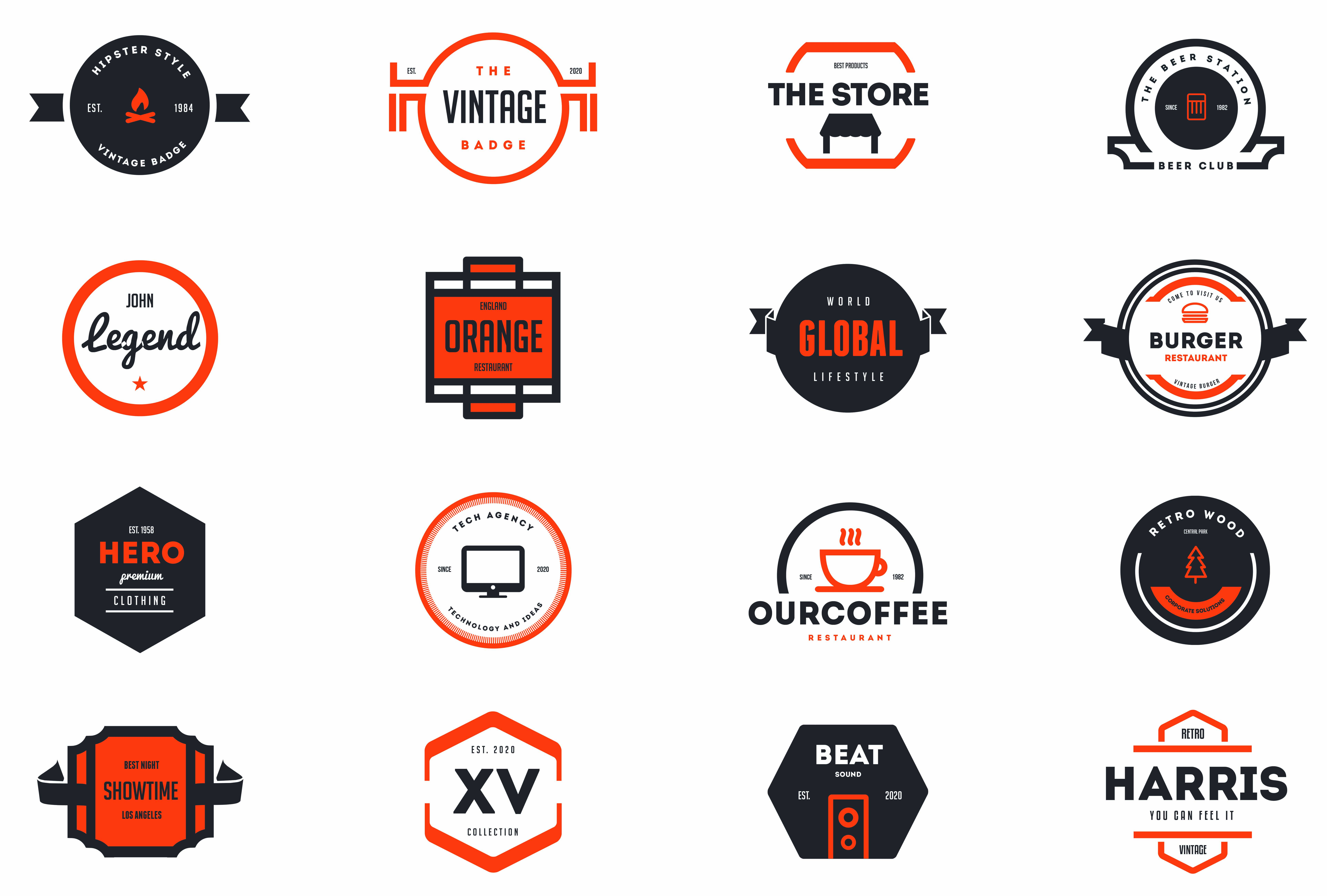 Photo of elements trendy 15 vintage logos badges