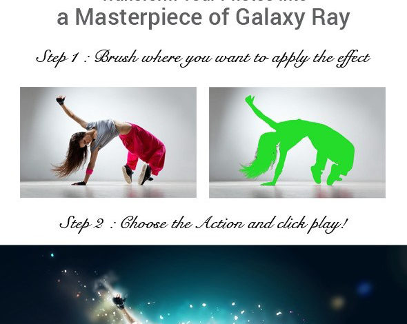 Galaxy Ray Photoshop Action 11101001 Free Download Picgiraffe.com
