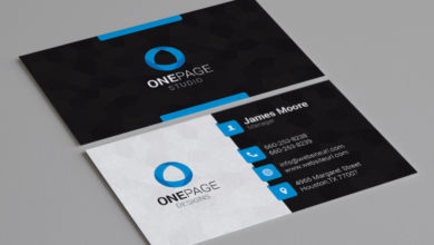 Photo of Designer business card for individual Template Free Download