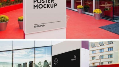 Photo of Film Poster Mockup free download