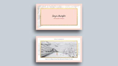 Modern Stylish Business Card Template Free Download Picgiraffe.com