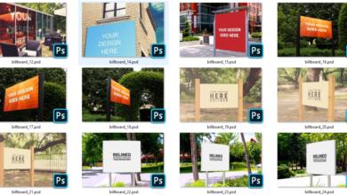 PSD Billboard Mock Up Big Pack 2 Free Download Picgiraffe.com