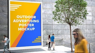 Photo of PSD Mock Up Outdoor Advertising Poster 2017 free download