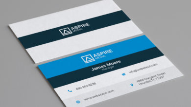 Professional Media Business Card Template Free Download Picgiraffe.com