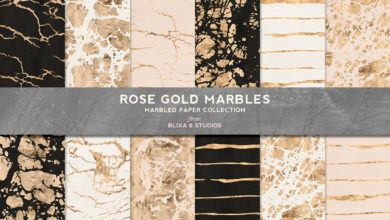 Photo of Rose Gold Marbles Collection Free Download
