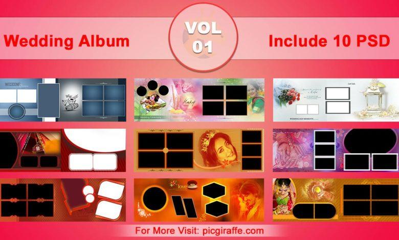 Wedding Album Design Psd Templates 12x36 VOL 01 Free Download Picgiraffe.com