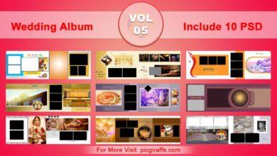 Wedding Album Design Psd Templates 12x36 VOL 05 Free Download Picgiraffe.com