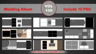 Wedding Album Design Psd Templates 12x36 VOL 100 Free Download Picgiraffe.com