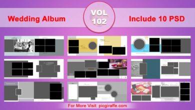 Wedding Album Design Psd Templates 12x36 VOL 102 Free Download Picgiraffe.com