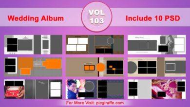 Wedding Album Design Psd Templates 12x36 VOL 103 Free Download Picgiraffe.com