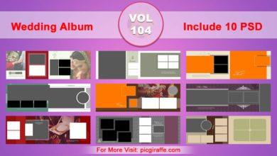Photo of Wedding Album Design Psd Templates 12×36 VOL 104 Free download