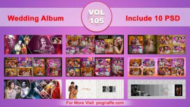 Wedding Album Design Psd Templates 12x36 VOL 105 Free Download Picgiraffe.com