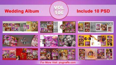 Wedding Album Design Psd Templates 12x36 VOL 106 Free Download Picgiraffe.com