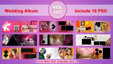 Wedding Album Design Psd Templates 12x36 VOL 107 Free Download Picgiraffe.com