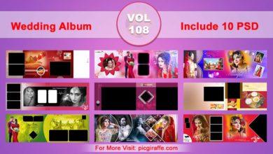 Wedding Album Design Psd Templates 12x36 VOL 108 Free Download Picgiraffe.com