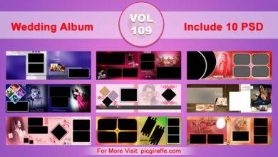 Wedding Album Design Psd Templates 12x36 VOL 109 Free Download Picgiraffe.com