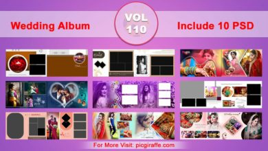 Photo of Wedding Album Design Psd Templates 12×36 VOL 110 Free download