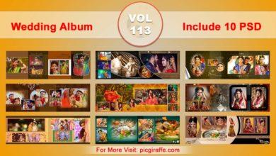 Photo of Wedding Album Design Psd Templates 12×36 VOL 113 Free download
