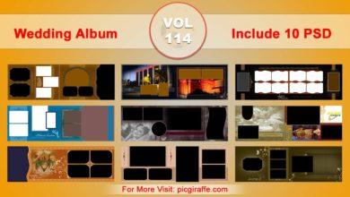 Wedding Album Design Psd Templates 12x36 VOL 114 Free Download Picgiraffe.com