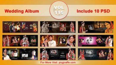 Photo of Wedding Album Design Psd Templates 12×36 VOL 115 Free download