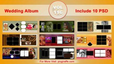 Photo of Wedding Album Design Psd Templates 12×36 VOL 116 Free download