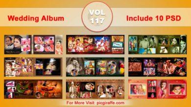 Photo of Wedding Album Design Psd Templates 12×36 VOL 117 Free download