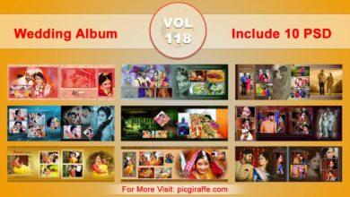 Wedding Album Design Psd Templates 12x36 VOL 118 Free Download Picgiraffe.com