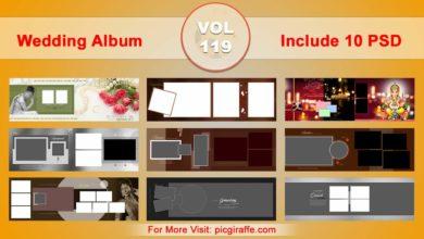 Photo of Wedding Album Design Psd Templates 12×36 VOL 119 Free download