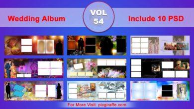 Wedding Album Design Psd Templates 12x36 VOL 54 Free Download Picgiraffe.com