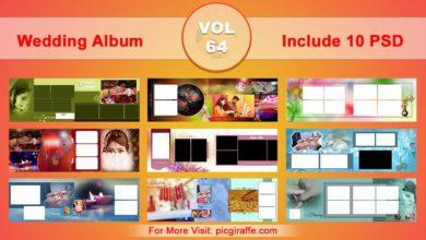 Wedding Album Design Psd Templates 12x36 VOL 64 Free Download Picgiraffe.com