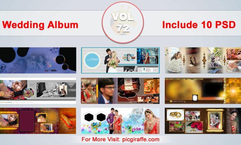 Wedding Album Design Psd Templates 12x36 VOL 72 Free Download Picgiraffe.com