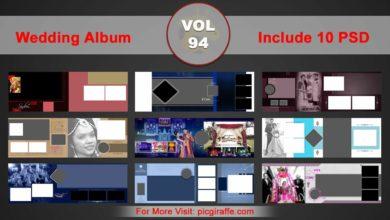Wedding Album Design Psd Templates 12x36 VOL 94 Free Download Picgiraffe.com