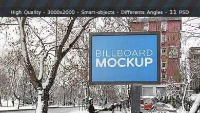 Photo of billboards mockups in winter 18846023 free download