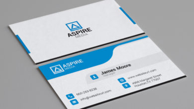 Photo of Creative Media Manaer business card Template Free Download