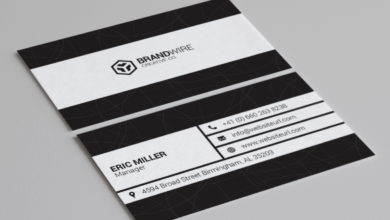 Photo of Minimal black white business card Template Free Download