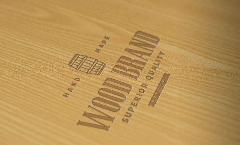 Realistic Wood Logo Mockup 230514299 Free Download Picgiraffe.com