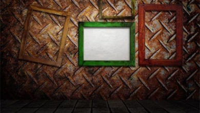 Photo of wooden picture frame free download