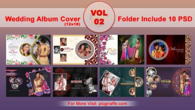 12x18 DM Wedding Album Cover Design VOL 2 Free Download Picgiraffe.com